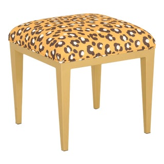Dana Gibson Golden Ocelot Ottoman For Sale