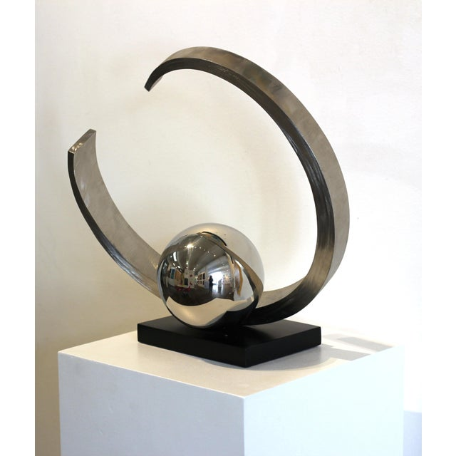 """Abstract """"Quest for Enlightenment"""" Stainless Steel Sculpture For Sale - Image 3 of 9"""