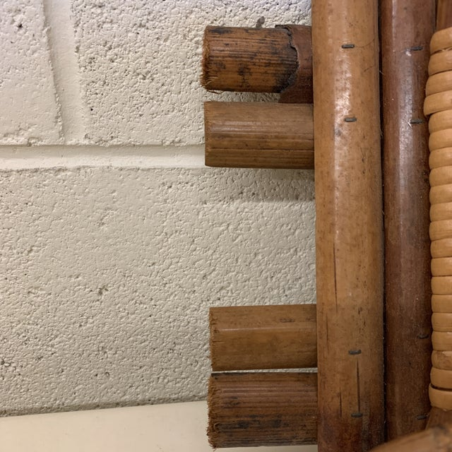 Wood Italian Bamboo Hat or Towel Rack For Sale - Image 7 of 12