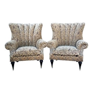 Key City Jayden Wingback Chairs - A Pair