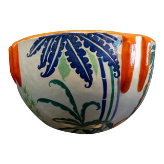 1929 Bauer Decorated Indian Bowl For Sale