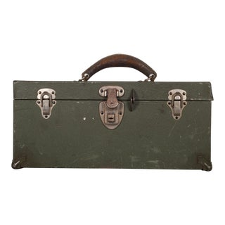 Kennedy Kit Metal Toolbox C.1950s For Sale