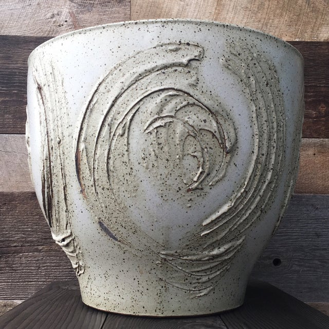 Rare David Cressey expressive pot for Architectural Pottery - Pro Artisan Studio. Excellent vintage condition with no...
