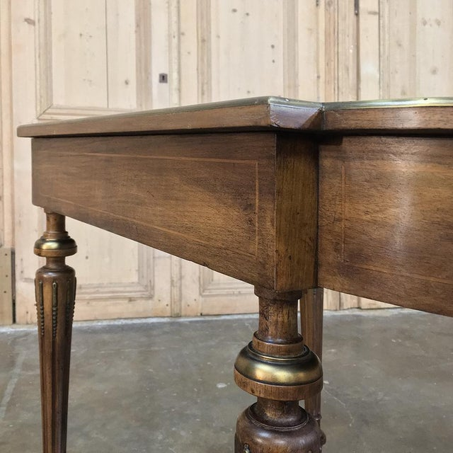 19th Century French Louis XVI Rosewood Inlaid Desk - Writing Table For Sale In Dallas - Image 6 of 8
