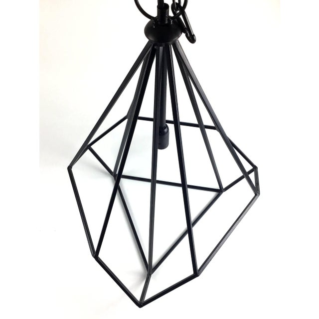 Black Modern Hanging Ceiling Chandeliers - a Pair For Sale - Image 4 of 12