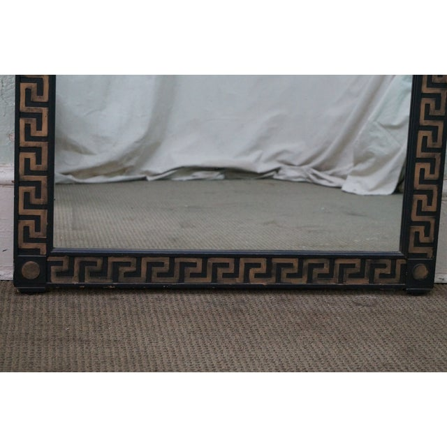 Vintage Hollywood Regency Greek Key Mirror For Sale - Image 10 of 10