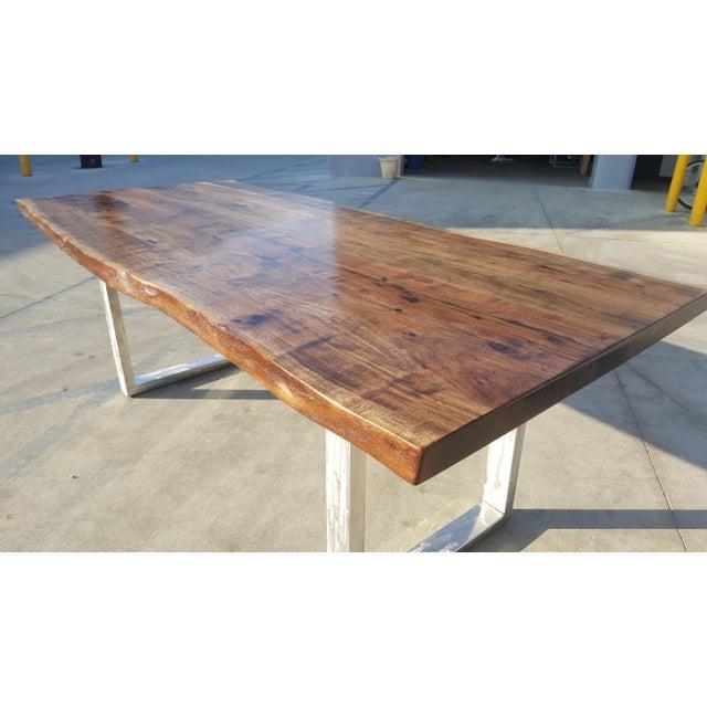 Acacia Wood Live Edge Table - Image 3 of 8