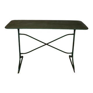 1930s French Tole Bistro Table For Sale