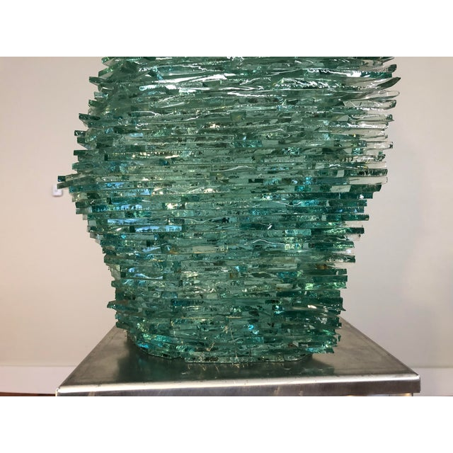 Late 20th Century Late 20th Century Large Modern Fractured Glass Sculpture For Sale - Image 5 of 10