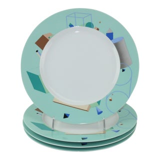 Steven Holl for Swid Powell 'Volumetric' Memphis Style Plates, Set 4 For Sale