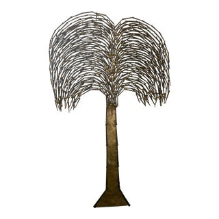 1950s Mid-Century Ron Schmidt Nail Tree Art Wall Sculpture For Sale