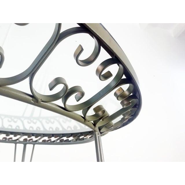 Arthur Umanoff 1960s Mid-Century Modern Arthur Umanoff Grenada Wrought Iron Outdoor Dining Table For Sale - Image 4 of 13