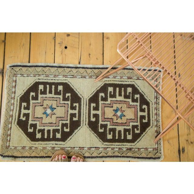 Islamic Vintage Oushak Rug Mat - 1′9″ × 2′11″ For Sale - Image 3 of 5