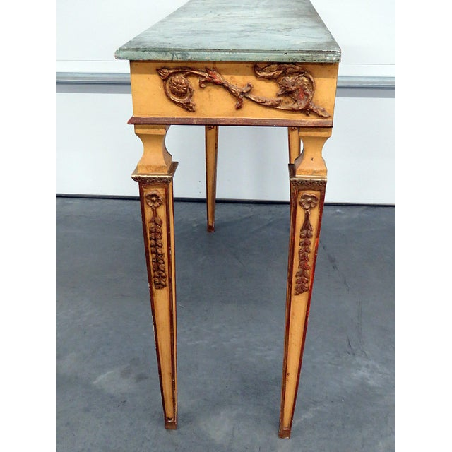 Neoclassical Style Paint Decorated Console & Mirror For Sale In Philadelphia - Image 6 of 13