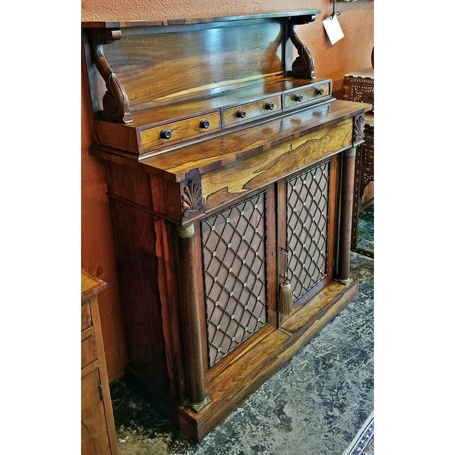 18c British Regency Bureau Secretaire Chiffonier in the Manner of Gillows For Sale - Image 11 of 13