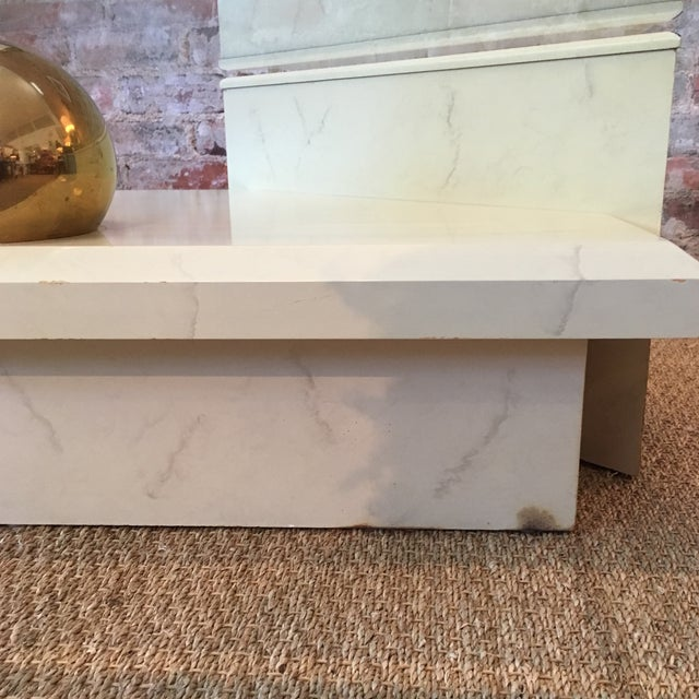 Vintage Faux Stone Coffee Table