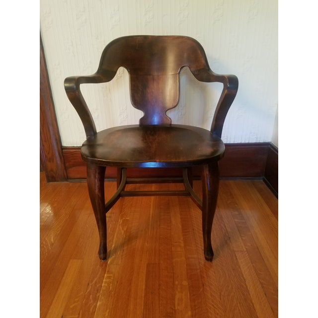 Vintage Restored Wooden Office Chair - Image 6 of 9