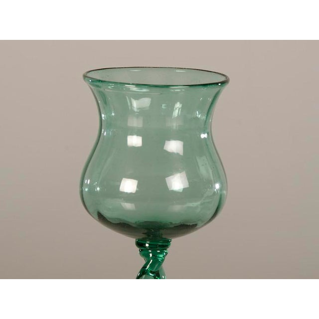 Late 19th Century 19th Century French Tall Hand Blown Glass Drinking Vessels - Set of 6 For Sale - Image 5 of 8