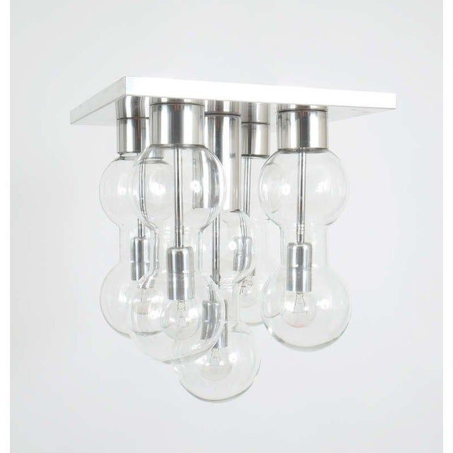 Mid-Century Modern 1960 Hourglass Glass Flush Mount by Doria For Sale - Image 3 of 6