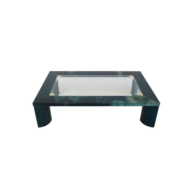 1960s Green Aldo Tura Living Room Coffee Table From 1960 For Sale - Image 5 of 5