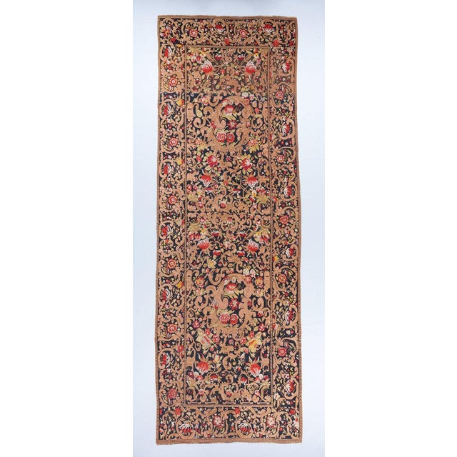 Black Ground Oversized Karabagh Long Rug For Sale In Los Angeles - Image 6 of 6