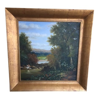 19th Century Landscape Painting For Sale