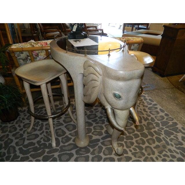Marge Carson Elephant High Table & Stools - Set of 3 - Image 4 of 9