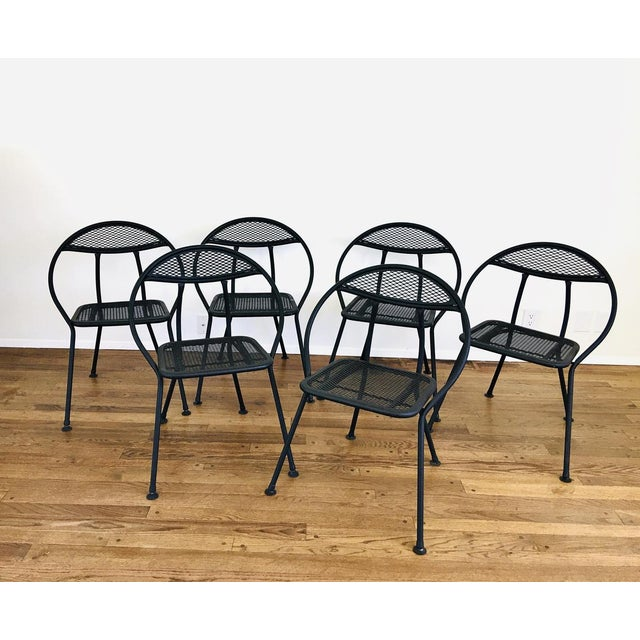 1960s Mid Century Modern Rid-Jid Folding Patio Table & 6 Chairs Set, 7 Pieces For Sale In Las Vegas - Image 6 of 11