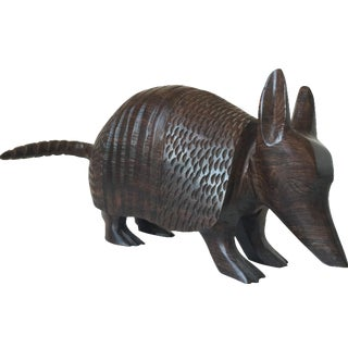 Wood Armadillo Sculpture For Sale