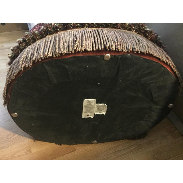Metal Morrocan Style Ottoman Chair For Sale - Image 7 of 7