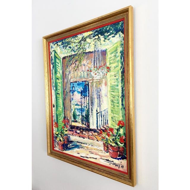 Original Spanish Courtyard Oil Painting For Sale - Image 11 of 12