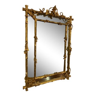 18th Century Style Gold Grape Leaf Mirror For Sale