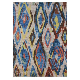 """Aara Rugs Inc. Modern Moroccan Hand Knotted Rug - 4'10' X 6'7"""" For Sale"""