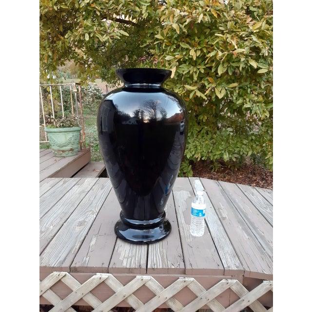 Vintage Pilgrim Masterwork Collection Black Art Glass Vase For Sale - Image 10 of 13