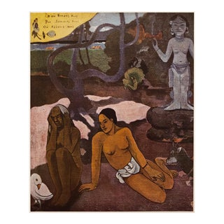 """1950s """"Where Are We Going?"""" by Paul Gauguin, Boho Chic First Edition Lithograph For Sale"""