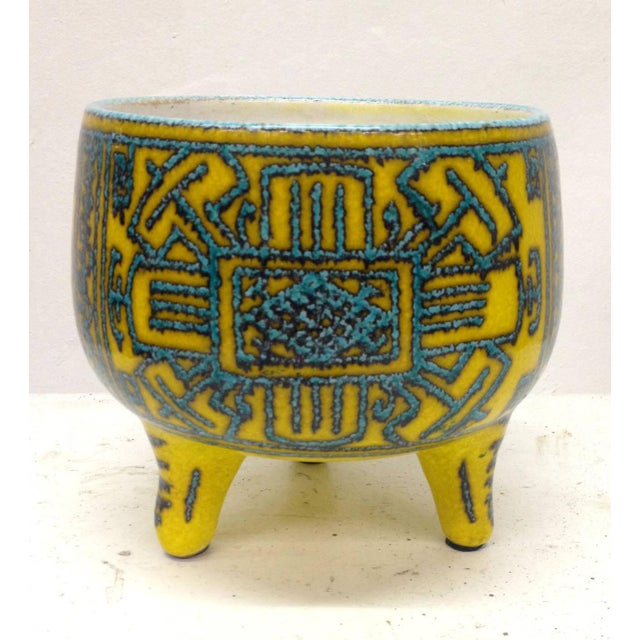 Inspired Precolombian Tripod Bowl: Made in Italy - Image 2 of 10