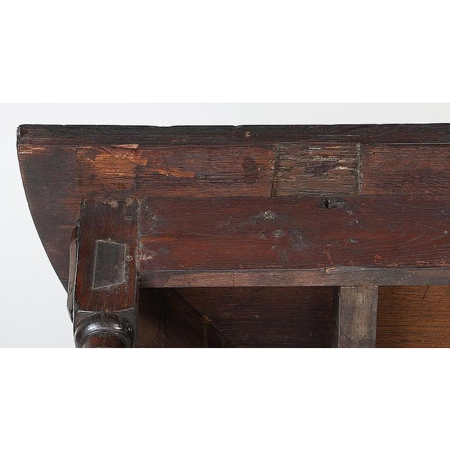 Early 19th Century 19th Century Vintage English Fliptop Demi Lune Table For Sale - Image 5 of 6