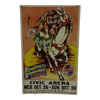 1960 Ringling Brothers and Barnum & Bailey Circus Poster