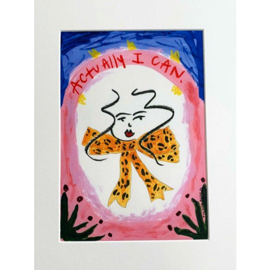"""""""Actually I Can"""" Contemporary Giclée A4 Print For Sale - Image 4 of 7"""