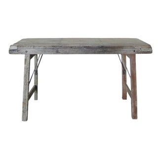 Vintage Rustic Wood Console