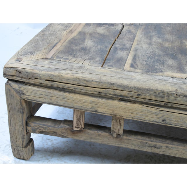 1910s 1910s Rustic Square Shandong Coffee Table For Sale - Image 5 of 6