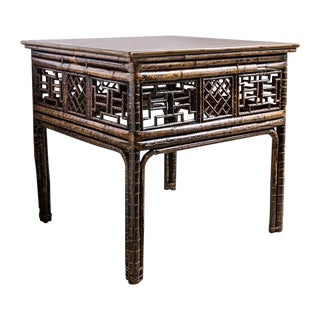 Antique Chinese Bamboo Center Table For Sale