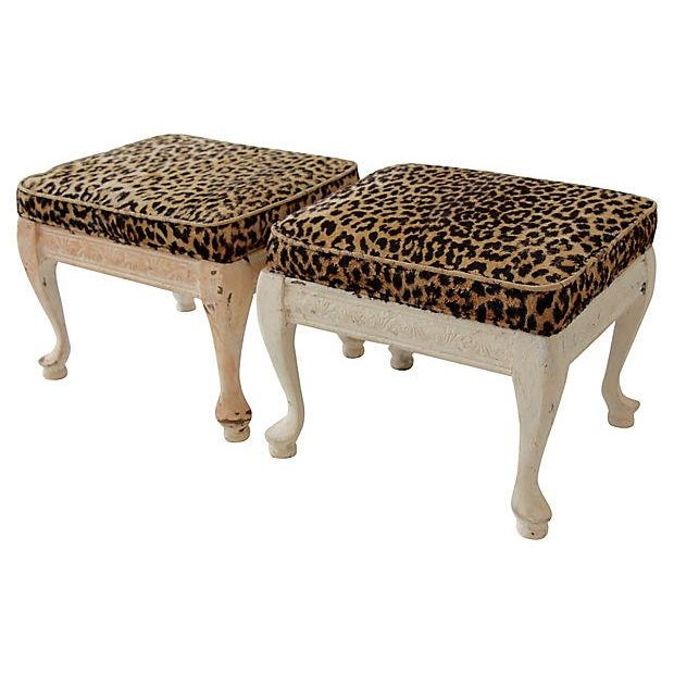 Leopard Print Footstools - A Pair - Image 3 of 5