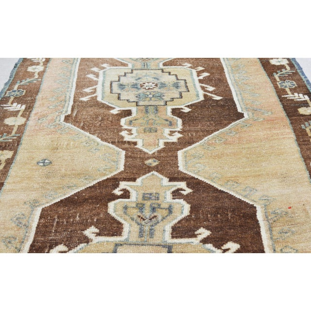 "Boho Chic Vintage Kurdish Tribal Rug,5'1""x12'3"" For Sale - Image 3 of 6"