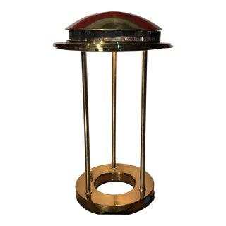 1980s Mid Cetury Modern Robert Sonneman for George Kovacs Saturn Brass Table Lamp For Sale