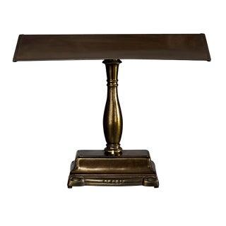 Antique Brass Desk Lamp For Sale