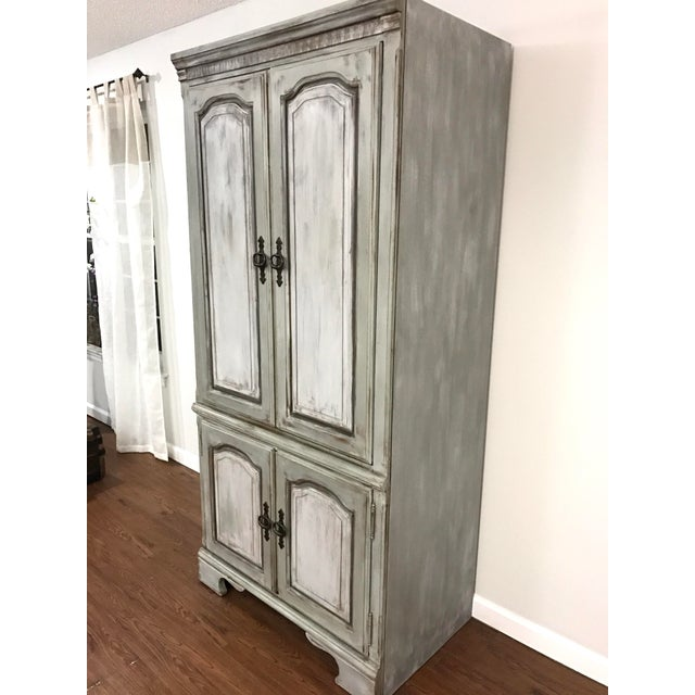 Distressed Shabby Chic Armoire - Image 3 of 11