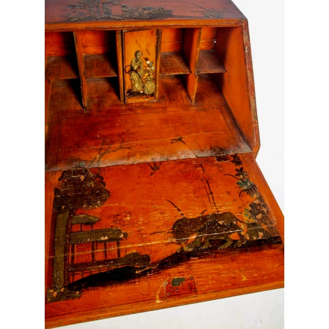 Chinoiserie Late 18th Century Queen Anne Style Chinoiserie Secretary Desk For Sale - Image 3 of 6