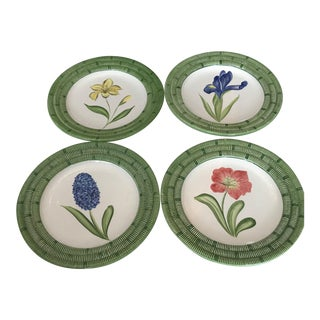 Mariposa Flower Dessert Plates - Set of 4 For Sale