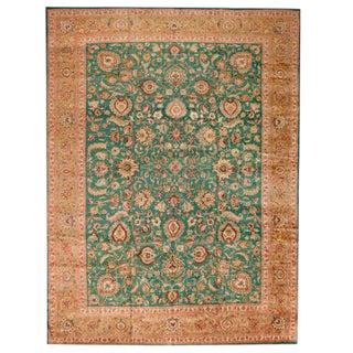 Antique Oversize Persian Tabriz Carpet For Sale